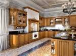 Фасады для кухни из натурального материала – дерева