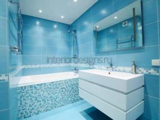 Дизайн стандартной ванной комнаты